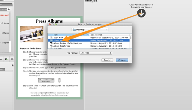 STEP 4 – Launch ROES and Import Your Album Designs