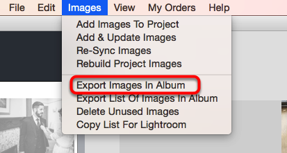 Export Images In Album