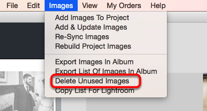 Delete Unused Images