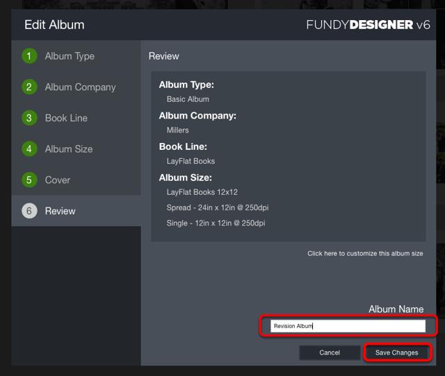 Change the Album Name