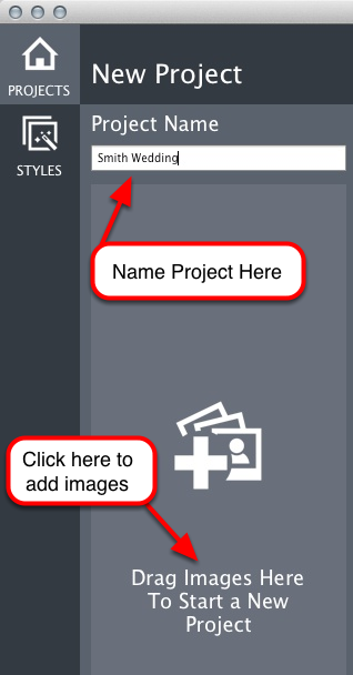 Name Your Project and Import Your Images