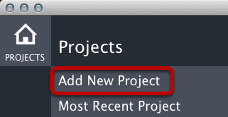 Add New Project