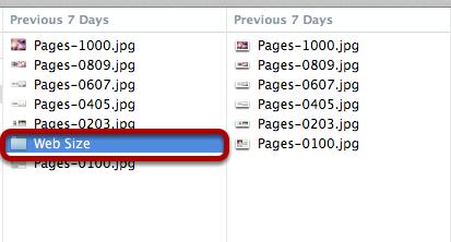 Web sized folder