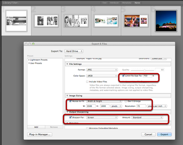 Resizing Using Lightroom