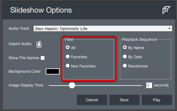 6. Filter Options