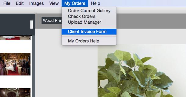 Client Invoice Form