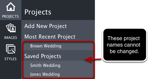 Main Project Names