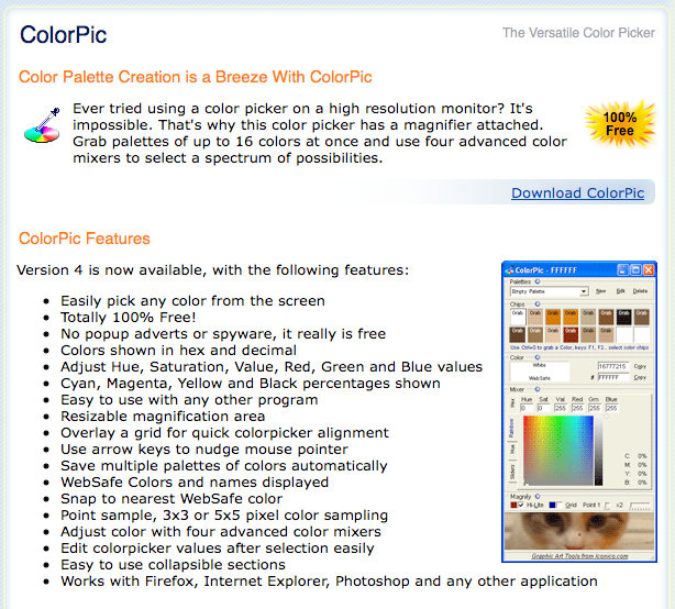 Download ColorPic for Windows