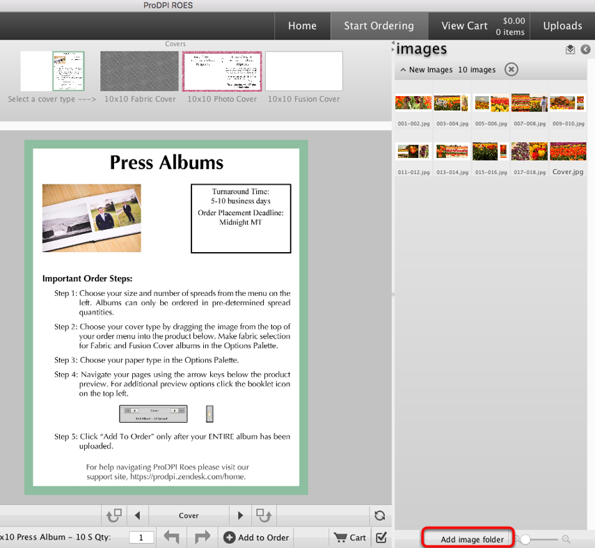 Step 4:  Launch ROES and Import Your Album Designs