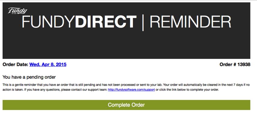 Pending Orders Reminder