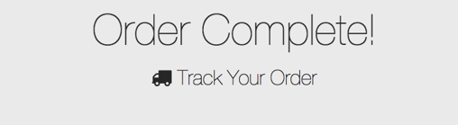 Order Complete!