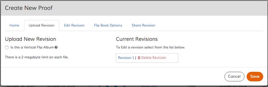 Upload Revision