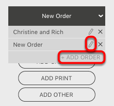 Adding a New Order