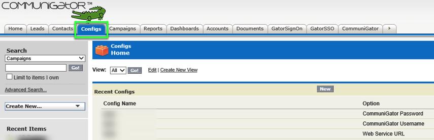 Updating SalesForce Config