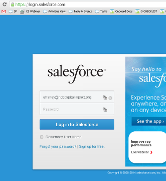 2. Make sure you have a login to your organization's Salesforce Account