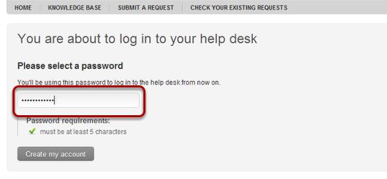 3. Choose a password.