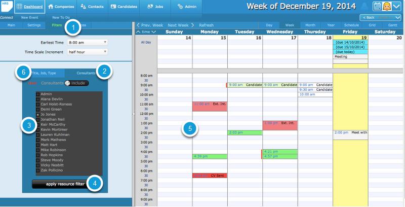 Filtering the Calendar