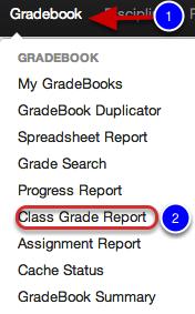 3. Class Grade Report