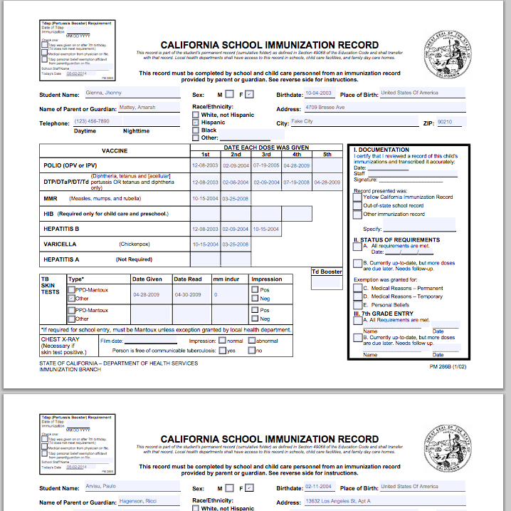 photograph about California Immunization Card Printable identify M Blue Card Obtain Illuminate Schooling