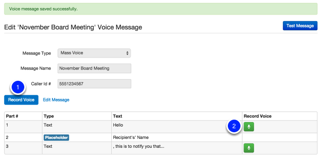 Recording a Voice (rather than using automated)