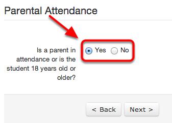 Indicate Parental Attendance