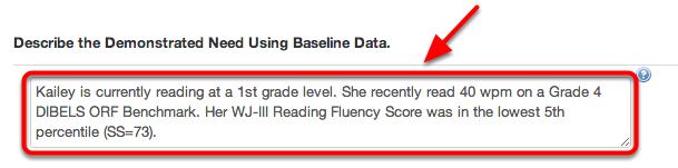 Part 2: Baseline Data
