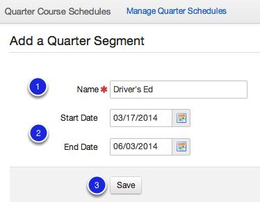 Add a Quarter Segment