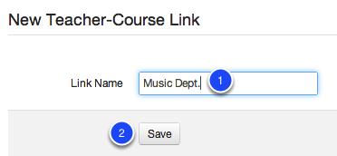 New Teacher-Course Link