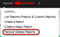 Recover Deleted Reports
