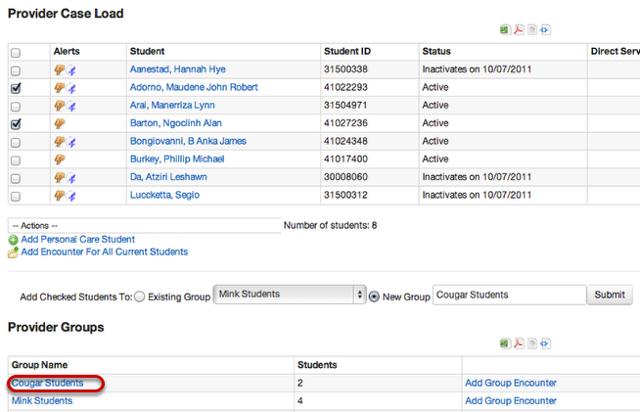 Edit Provider Group(s)