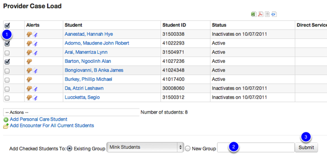 Create Student Group