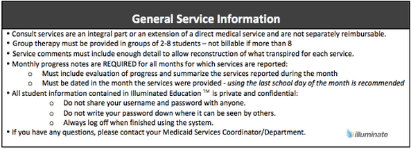 General Service Information- COTA
