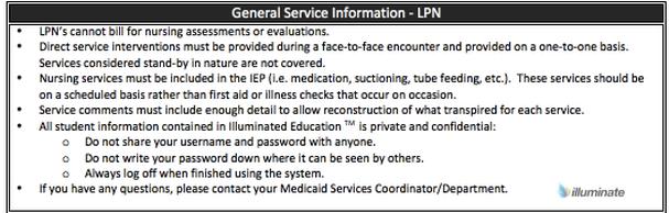 General Service Information- LPN