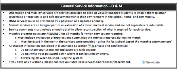 General Service Information- O&M