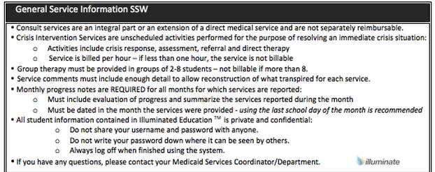 General Service Information- SSW