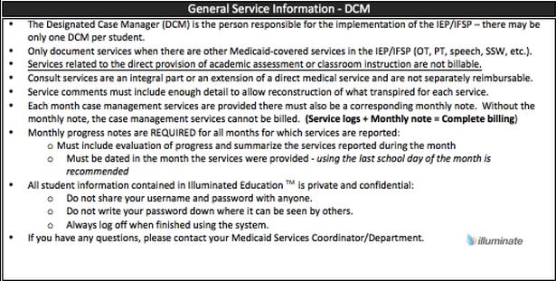 General Service Information- DCM