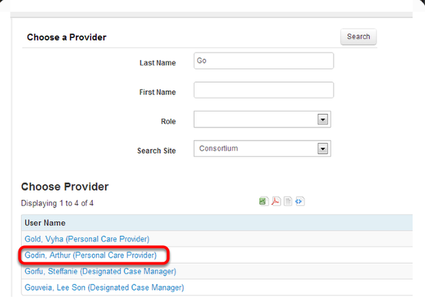 Selecting a Provider