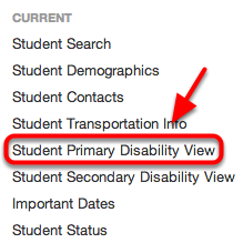 "Field 36: Primary Disability - MSDS Characteristic Name - ""Primary Disability"""