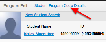 Return to Program/Service Code Details