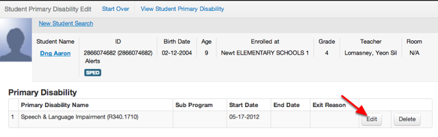 "Edit the End Date of the ""Current"" Disability"