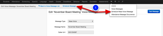 Scheduling your message