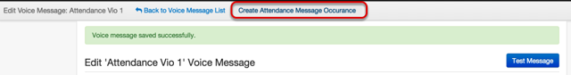 Setup Attendance Occurrence