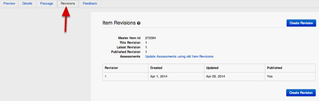 View Item Revisions