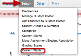Editing/Deleting your custom field