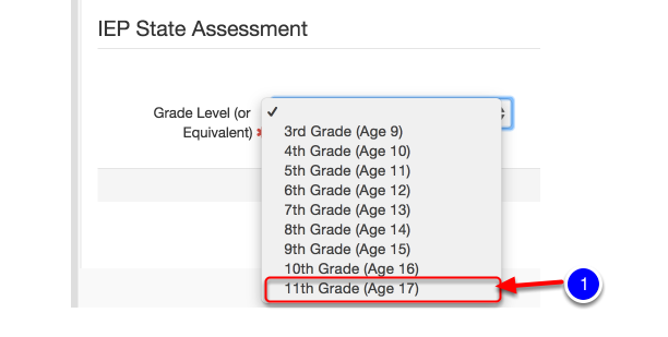 Updates/Changes to the Eleventh Grade State Assessment Options