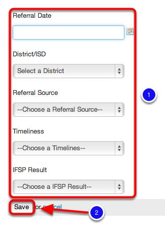 Input Initial IFSP Information