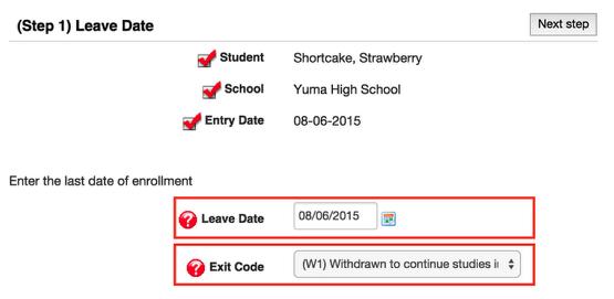 Un-Enrolling a Student