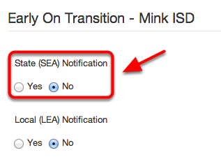 SEA Notification