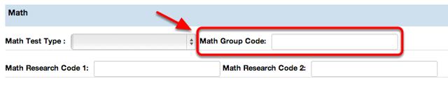 Math Group Code