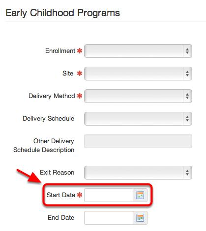 EC Program Start Date